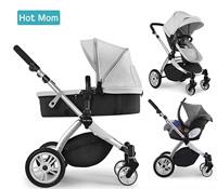 b4b6af1e8613c Chariot poussette Hot Mom 2018 combine avec nacelle et siège enfant